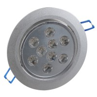 9W LED Ceiling Down Bulb Spot Light Adjustable Recessed Lamp 85-260V 900lm-Warm White