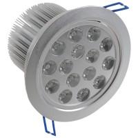 15*1W LED Ceiling Spotlight Lamp Bulb Light Adjustable Angle 85-265V w/ Driver -Warm White
