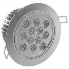 12*1W LED Ceiling Spotlight Lamp Bulb White Light Adjustable Angle 85-265V with Driver