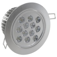 12*1W LED Ceiling Spotlight Lamp Bulb Light Adjustable Angle 85-265V with Driver Warm White