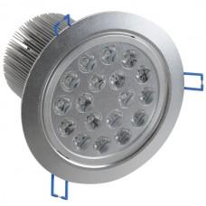 18*1W LED Ceiling Spotlight Lamp Bulb Light Adjustable Angle 85-265V w/ Driver -White