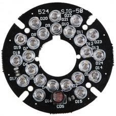 JG-58 54*54mm IR Light Panle Board 30M 12V 3W 45 Degree for CCTV Camera