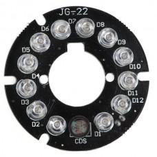 JG-22 45*45mm IR Lamp Panel Light Board 30M 3W 12V for Security Camera