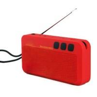 Portable NZ-230 Europe Retro Bulls FM Speaker For PC Laptop-Blue/Red