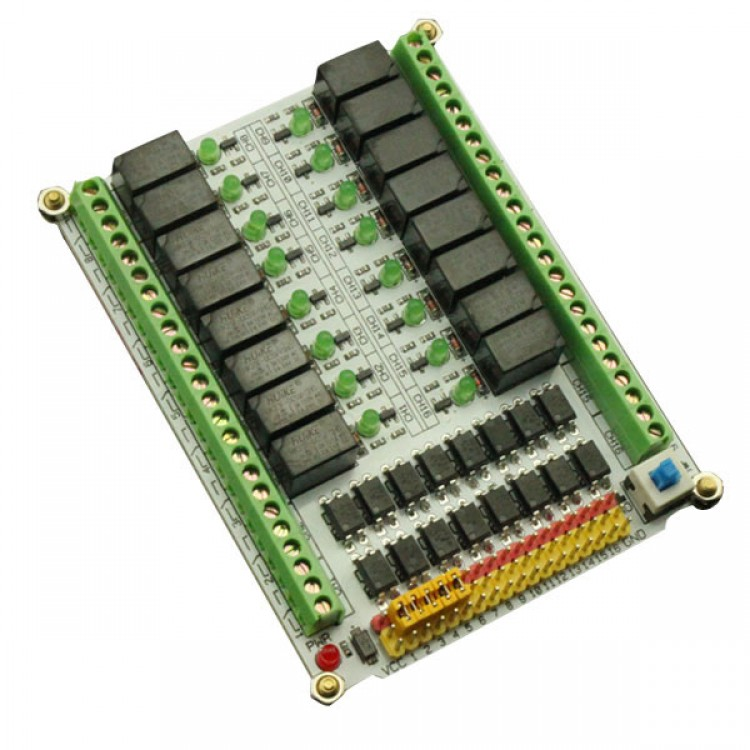 16CH 16 Channel 12V Mini Relay Module for Arduino PIC ARM ...  Channel V Relay Wiring Arduino on