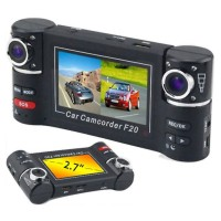 F20 Dual Camera 720P Two Channels Car Video Audio Recorder DVR Motion Detect with RC Controller