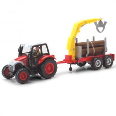 4109-03 1:43 Scale Farm Tractor with Logging Trailers