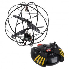 Flying Ball 3.5ch Rc Helicopter Remote Control Fly Ball Built in Gyro With LED Light-Black