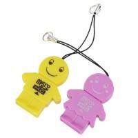 2PCS USB 2.0 High Speed TF Reader Card Circular Yellow+Purple