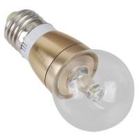 LED Spotlight Bulb E27 3W 90-240V Pure White Light Transparent Cover 240lm
