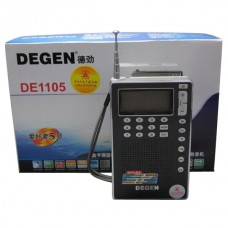 DEGEN DE1105 Radio PLL AM / FM-stereo / SW / MW Full Bands Dual Conversion World Radio