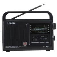 DEGEN DE392 FM/TV MW SW Crank Dynamo Solar Emergency Radio World Receiver