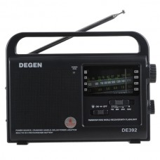DEGEN DE392 FM/TV MW SW Crank Dynamo Solar Emergency Radio World Receiver