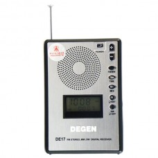 DEGEN DE17 FM Stereo MW SW LCD Radio DSP World Band Receiver Alarm Quarz Clock