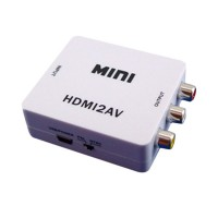 EEEKit for TV/PC/PS3/Blue-ray/FPV System DVD Mini White HDMI to 3RCA Composite AV Converter