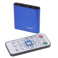 Mini SD USB HDMI 1080P HD Media Player with Remote Controller MKV RMVB RM Blue