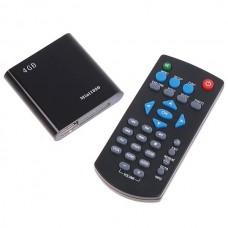 Mini 1080P HD HDMI SD USB Media Player MKV RM RMVB Black 4GB Flash