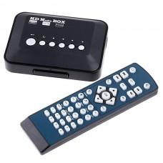 Mini HD Media Player HDMI 1080P USB SD MMC RMVB MP3 AVI MPEG Divx MKV