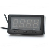 "3.0"" Red LED Car Digital Thermometer with Voltage / Clock Display"
