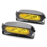 55W 3000K 1000-Lumen 1 x H3 Halogen Bulb Yellow Car Fog Lamps DC 9~16V LA990B