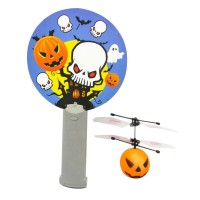 Mini Magic Flyer UFO RC Interactive Helicopter Pumpkin Design with IR Sensor Remote Control