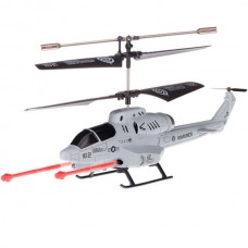 U809A iOS/Android IR Controlled 3.5-CH Missile Shooting Helicopter with Gyroscope Dusty Blue