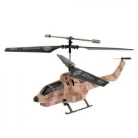 U809A iOS/Android IR Controlled 3.5-CH Missile Shooting Helicopter with Gyroscope Brown