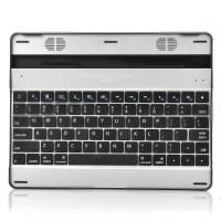 V3 78-Key Bluetooth Wireless Aluminum Alloy Keyboard with Speaker for iPad 2