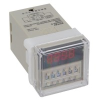 AC 220V Digital Timer Programmable Circle Double Time Delay Relay DH48S-S