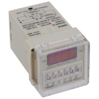 220V AC Digits Presettable Programmable Circle Double Time Delay Relay DH48S-S