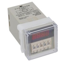 Punai DH48S-2Z AC 220V 0.01s-99h99m Digital Timer Time Delay Relay DPDT