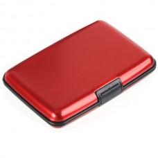 Waterproof Aluminium Credit Card Case Name Card Case-Red