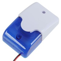 Mini Strobe Siren 12VDC with Strobe Light for Security System -Blue