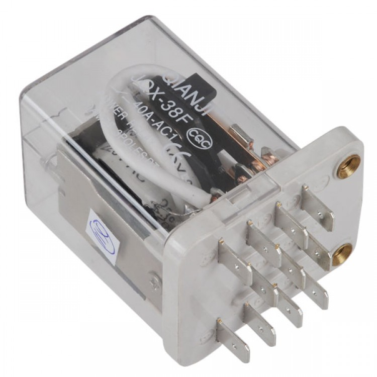 JQX-38F AC 220V Coil 40A 11 Pin 3PDT Power Relay - Free Shipping