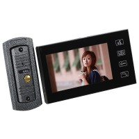 """7"""" LCD Digital Video Door Phone Touch Key Doorbell Home Entry Intercom With 1 Monitor"""