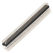 40Pin 2.54mm Three Row Right Angle Male Header Strip 10-Pack