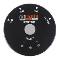 Mini HDMI Switch 3 to 1 HDMI 1.3 1080p 3D Supported 3 Port