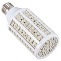 E27 Base 3528 216leds 220v 12W LED Light Bulbs Corn LED Lamp-Warm White