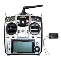 Futaba 10CG T10CG 2.4 GHz FASST Transmitter + R6208SB Receiver TX/RX Radio Set