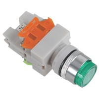 24V Signal Light 1NO 1NC Green Push Press Button Switch