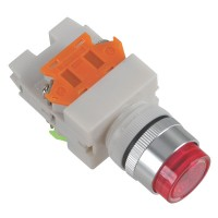 24V Signal Light 1NO 1NC Red Push Press Button Switch Locking Type