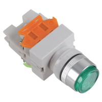 24V Signal Light 1NO 1NC Green Push Press Button Switch Locking Type