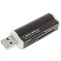 Siyoteam SY-662 Lighter Shaped TF SD M2 Multi-Function Card Reader High-speed Reader