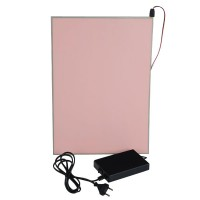 A4 297*210mm EL Panel Sheet Pad Back Light Display Light Up Backlight Set-Pink
