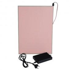 A4 297*210mm EL Panel Sheet Pad Back Light Display Light Up Backlight Set-Pink