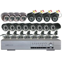 IR Audio Dome CCTV Camera NET Network 16CH DVR Security System 1000GB HDD