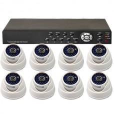 8 Audio Video CCTV Color Camera 48IR 600TVL + 8CH Network DVR System 1000GB HDD