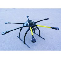 ATG 700-AL CRP Carbon Fiber Folding Frame Hex Rotor Hexa Multi-copter with Tall Landing Gear