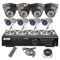 8pcs Outdoor Audio CCTV IR Camera AVT618 DVR 8CH 1000GB Network DVR System