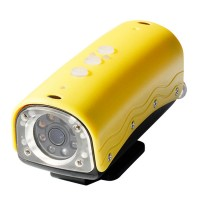 720P Waterproof Sport Action DVR Helmet Camera 20M Underwater Camcorder-Yellow